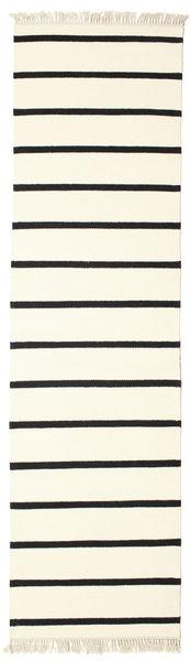 Dorri Stripe - White/Negru Covor 80X300 Modern Lucrate De Mână Bej/Bej-Crem (Lână, India)