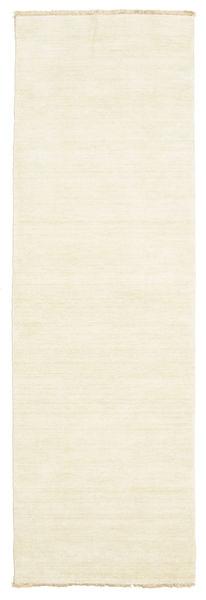 Handloom Fringes - Deschis Covor 80X250 Modern Bej (Lână, India)