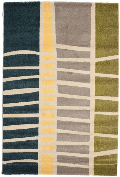 Abstract Bamboo Covor 160X230 Modern Albastru Închis/Bej ( Turcia)