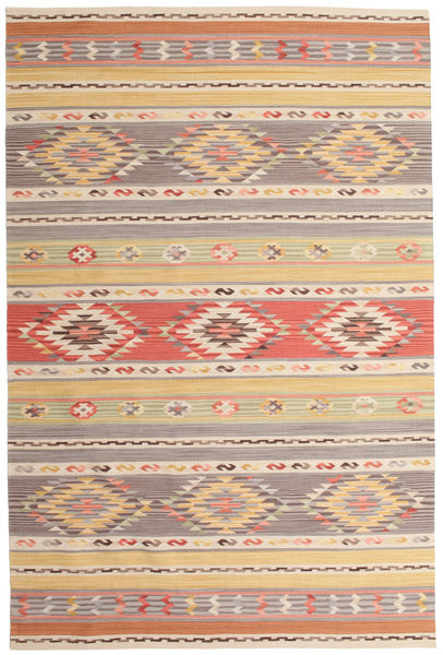 Chilim Nimrud Covor 190X290 Modern Lucrate De Mână Gri Deschis/Bej Închis (Lână, India)