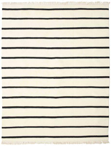 Dorri Stripe - White/Negru Covor 200X250 Modern Lucrate De Mână Bej/Bej-Crem (Lână, India)