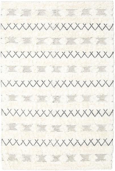 Shedir - White Covor 160X230 Modern Lucrate De Mână Bej/Bej-Crem (Lână, India)