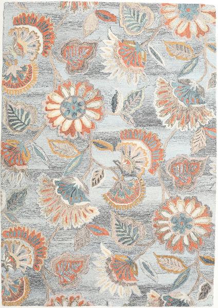Rusty Flowers - Gri/Ruginiu Covor 160X230 Modern Gri Deschis/Bej (Lână, India)
