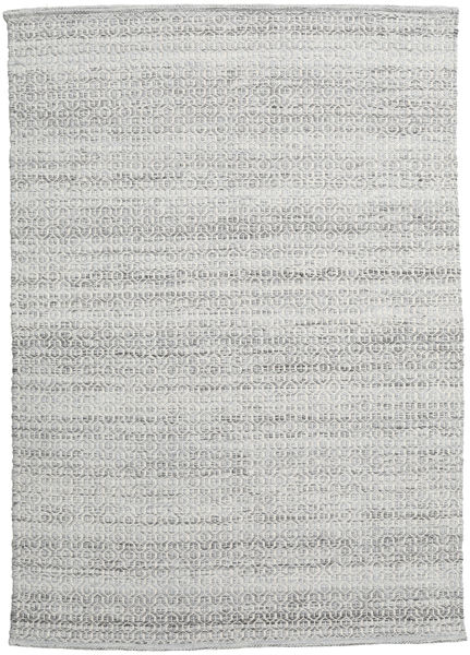 Alva - Gri/White Covor 140X200 Modern Lucrate De Mână Gri Deschis (Lână, India)