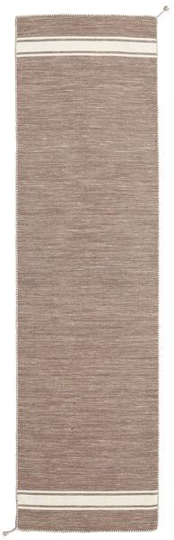 Ernst - Maro Deschis/Alburiu Covor 80X400 Modern Lucrate De Mână Gri Deschis (Lână, India)