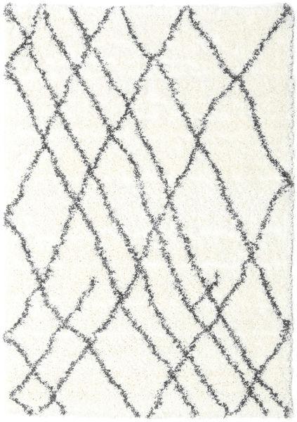 Shaggy Tangier - White/Gri Închis Covor 160X230 Modern Bej/Gri Deschis ( Turcia)