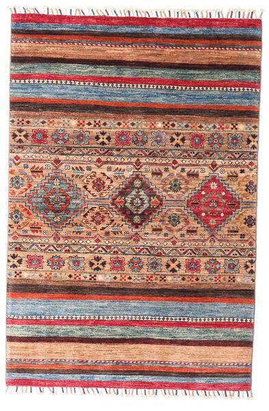 Shabargan Covor 99X147 Modern Lucrat Manual Roșu-Închis/Ruginiu (Lână, Afganistan)