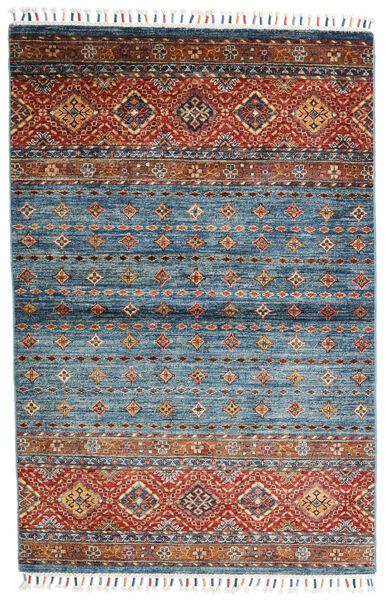 Shabargan Covor 104X156 Modern Lucrat Manual Albastru/Gri Închis (Lână, Afganistan)