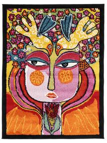 She Has Flowers In Her Hair Covor 100X130 Modern Portocaliu/Negru ( Turcia)