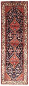 Hamadan Covor 102X305 Orientale Lucrat Manual Roșu-Închis/Maro (Lână, Persia/Iran)