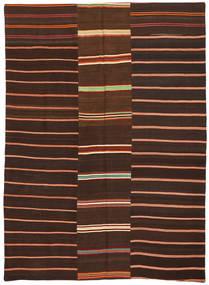 Chilim Patchwork Covor 175X241 Modern Lucrate De Mână Maro Închis/Roșu-Închis (Lână, Turcia)