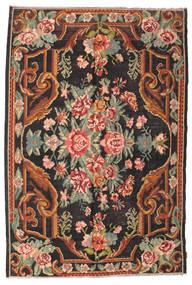 Chilim Rose Moldavia Covor 184X277 Orientale Lucrate De Mână Negru/Gri Închis (Lână, Republica Moldova)
