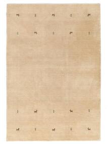 Gabbeh Loom Two Lines - Bej Covor 160X230 Modern Bej Închis/Maro Deschis (Lână, India)