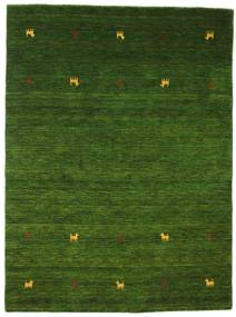 Gabbeh Loom Two Lines - Verde Covor 140X200 Modern Verde Închis (Lână, India)