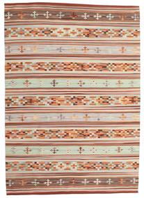 Chilim Anatolian Covor 160X230 Modern Lucrate De Mână Roșu-Închis/Gri Deschis (Lână, India)