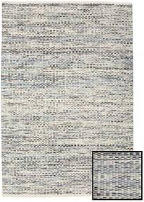 Pebbles - Gri/Albastru Mix Covor 140X200 Modern Lucrate De Mână Gri Deschis/Bej Închis ( India)