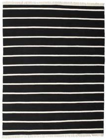Dorri Stripe - Negru/White Covor 200X250 Modern Lucrate De Mână Negru (Lână, India)