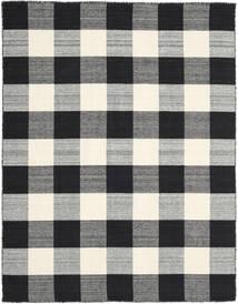 Check Kilim - Negru/White Covor 190X240 Modern Lucrate De Mână Negru/Gri Închis/Gri Deschis (Lână, India)