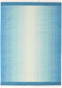 Ikat - Albastru/Turquoise Covor 210X290 Modern Lucrate De Mână Albastru Deschis/Albastru Turcoaz (Lână, India)