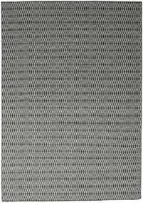 Chilim Long Stitch - Negru/Gri Covor 240X340 Modern Lucrate De Mână Gri Deschis/Gri Închis (Lână, India)