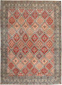 Nain Patina Covor 287X395 Orientale Lucrat Manual Maro Deschis/Gri Deschis Mare (Lână/Mătase, Persia/Iran)