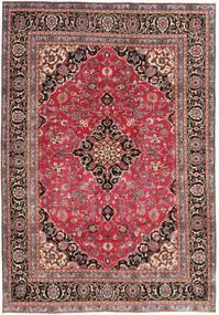 Mashhad Patina Covor 195X278 Orientale Lucrat Manual Roșu-Închis/Ruginiu (Lână, Persia/Iran)