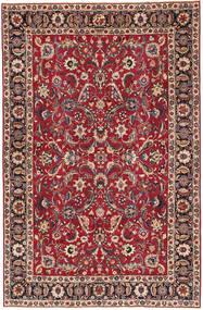 Mashhad Patina Covor 197X300 Orientale Lucrat Manual Roșu-Închis/Roşu (Lână, Persia/Iran)