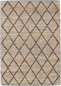 Serena Jute - Natural/Negru Covor 160X230 Modern Lucrate De Mână Gri Deschis/Maro Deschis ( India)