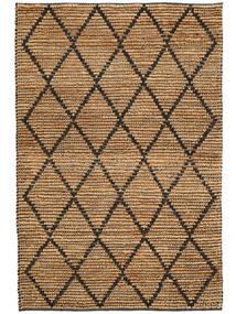 Covor Exterior Serena Jute - Natural/Negru Covor 120X180 Modern Lucrate De Mână Gri Deschis/Galben (Covor De Iută India)