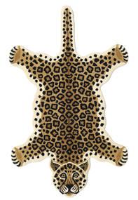 Leopard - Bej Covor 100X160 Modern Negru/Maro Deschis/Bej (Lână, India)