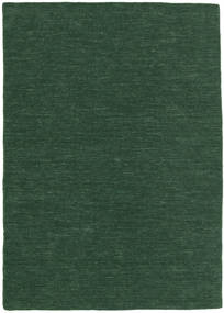 Chilim Loom - Verde Pădure Covor 160X230 Modern Lucrate De Mână Verde Închis (Lână, India)