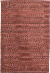 Alva - Dark_Rust/Negru Covor 160X230 Modern Lucrate De Mână Roșu-Închis/Maro Închis (Lână, India)
