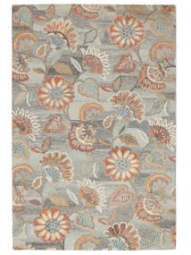 Rusty Flowers - Gri/Ruginiu Covor 200X300 Modern Gri Deschis/Bej Închis (Lână, India)