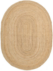 Covor Exterior Frida Oval - Natural Covor 160X230 Modern Lucrate De Mână Bej Închis/Bej (Covor De Iută India)