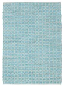 Elna - Bright_Blue Covor 200X300 Modern Lucrate De Mână Albastru Deschis/Albastru Turcoaz (Bumbac, India)
