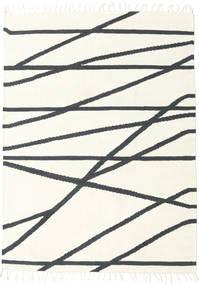 Cross Lines - Alburiu/Negru Covor 160X230 Modern Lucrate De Mână Bej/Gri Închis (Lână, India)