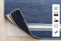 Anti Slip, Non-Woven Covor 80X300 Modern Albastru/Gri Deschis ( Belgia)