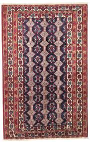 Beluch Patina Covor 132X206 Orientale Lucrat Manual Mov Închis/Bej (Lână, Persia/Iran)