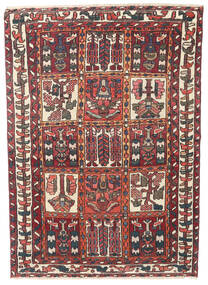 Bakthiari Patina Covor 110X152 Orientale Lucrat Manual Roșu-Închis/Maro Închis (Lână, Persia/Iran)