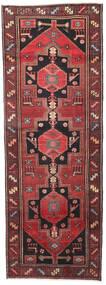 Hamadan Patina Covor 102X287 Orientale Lucrat Manual Roșu-Închis/Negru (Lână, Persia/Iran)