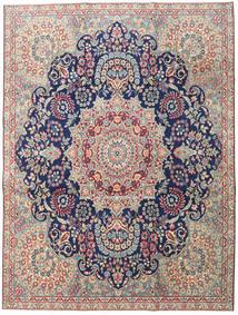 Kerman Patina Covor 230X305 Orientale Lucrat Manual Gri Deschis/Bej Închis (Lână, Persia/Iran)