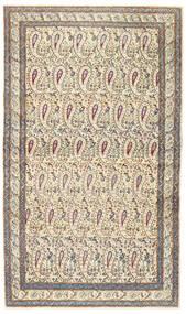Kerman Patina Covor 85X147 Orientale Lucrat Manual Bej/Gri Deschis (Lână, Persia/Iran)