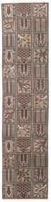 Bakthiari Patina Covor 70X305 Orientale Lucrat Manual Gri Deschis/Maro Închis (Lână, Persia/Iran)