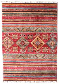 Shabargan Covor 106X148 Modern Lucrat Manual Ruginiu/Roșu-Închis (Lână, Afganistan)