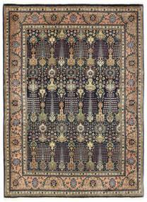 Tabriz 50 Raj Covor 150X198 Orientale Lucrat Manual Gri Închis/Albastru Închis (Lână, Persia/Iran)