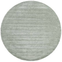 Handloom - Soft Teal Covor Ø 250 Modern Rotund Lumina Verde/Albastru Turcoaz Mare (Lână, India)