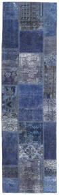 Patchwork - Persien/Iran Covor 73X253 Modern Lucrat Manual Albastru Închis/Roşu Închis (Lână, Persia/Iran)
