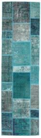 Patchwork - Persien/Iran Covor 70X249 Modern Lucrat Manual Întuneric Turquoise/Albastru Turcoaz (Lână, Persia/Iran)