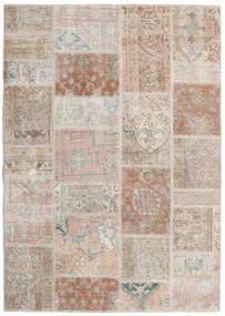Patchwork - Persien/Iran Covor 142X202 Modern Lucrat Manual Gri Deschis/Bej-Crem (Lână, Persia/Iran)