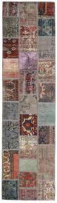 Patchwork - Persien/Iran Covor 82X303 Modern Lucrat Manual Gri Deschis/Negru (Lână, Persia/Iran)